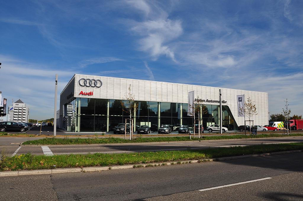 Bild 1: Neubau Hahn Gruppe Ludwigsburg Audi Terminal
