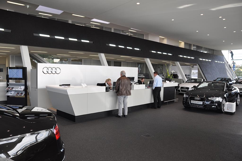 Bild 4: Neubau Hahn Gruppe Ludwigsburg Audi Terminal